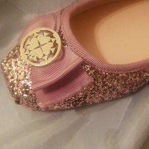 a100bafad07a kate spade Shoes - Kate Spade pink glitter ballet flats size 9